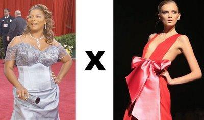 Queen Latifa X Modelo de passarela