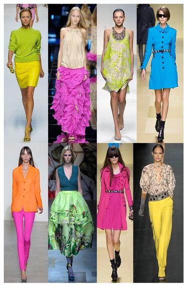 As cores neon invadiram as passarelas do mundo todo