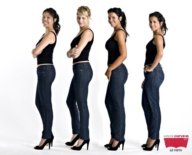 58aa4fc3f Levi s lança jeans para mulher curvilínea