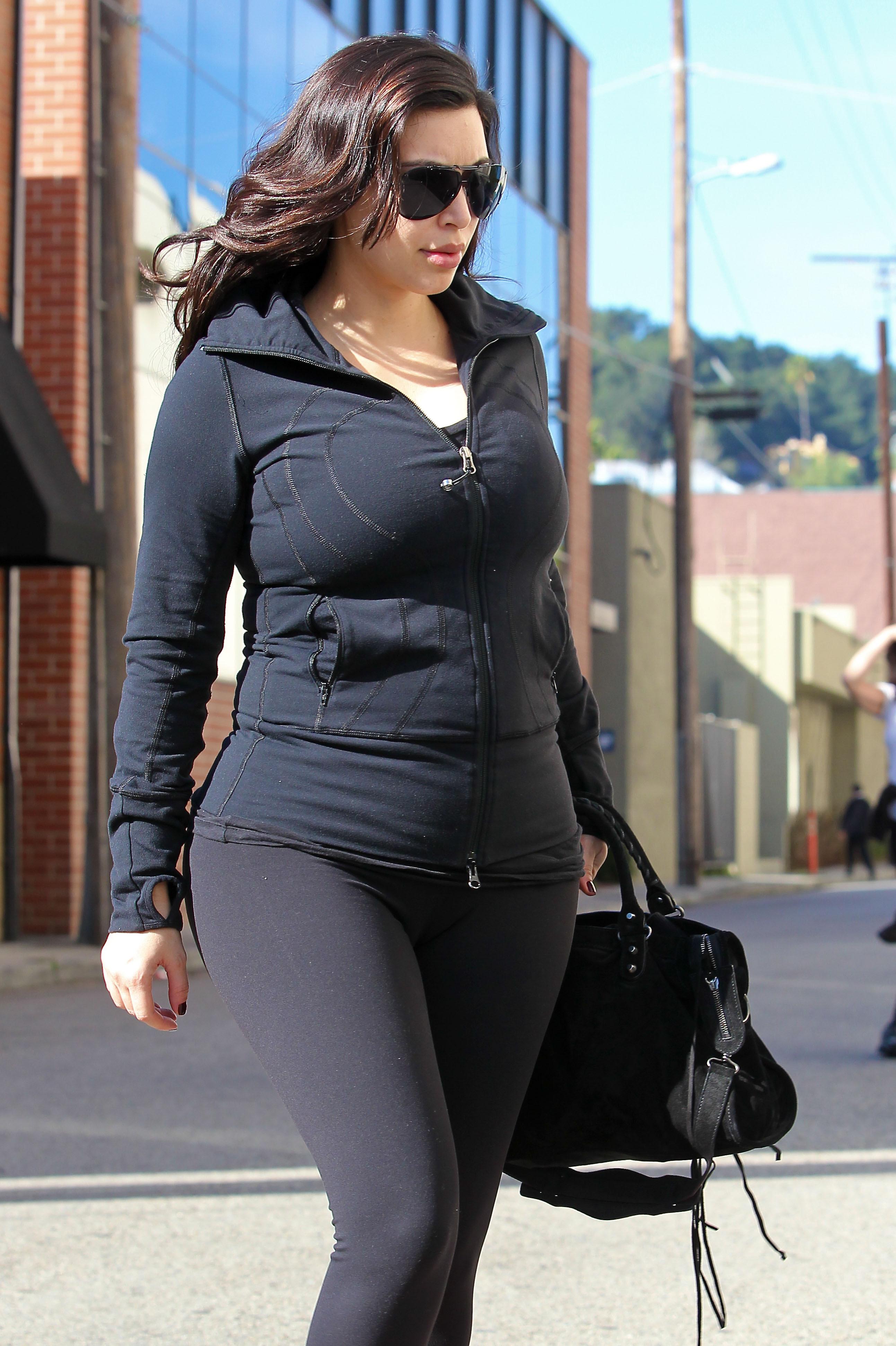 Kim Kardashian leaves the gym