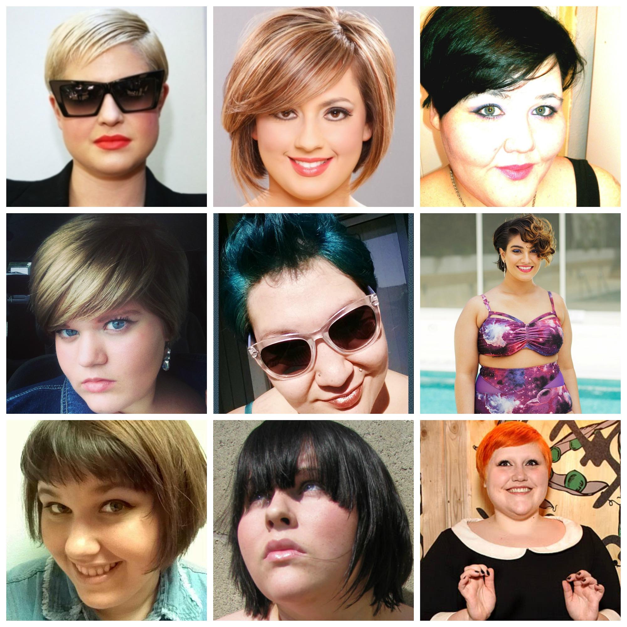 cortes de cabelo curto para gordinhas grandes mulheres