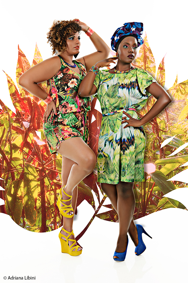 Tropical Paradise Editorial de Moda Plus Size - Verão 2015 - 1