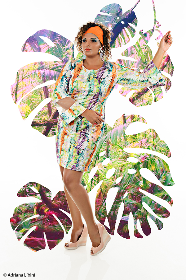 Tropical Paradise Editorial de Moda Plus Size - Verão 2015 - 5