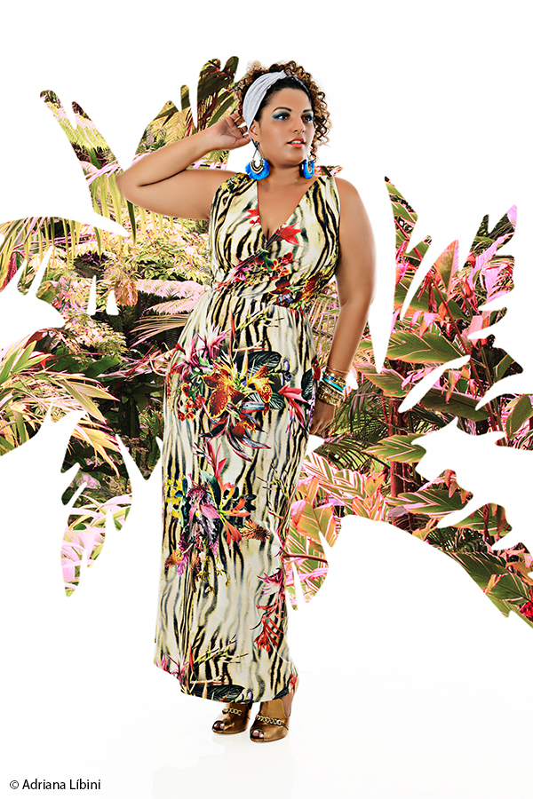 Tropical Paradise Editorial de Moda Plus Size - Verão 2015 - 9