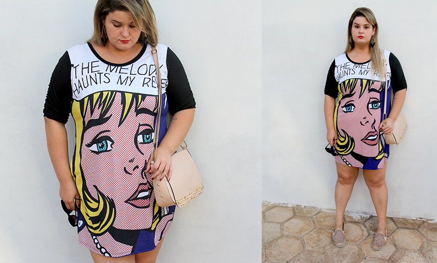 vestido cartoon