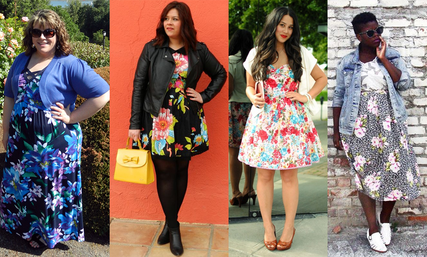 vestido floral plus size 2 - grandes mulheres