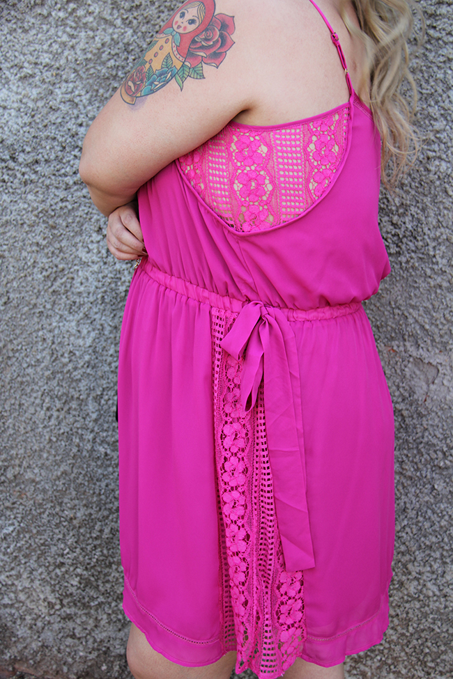 vestido plus size rosa 5 - grandes mulheres