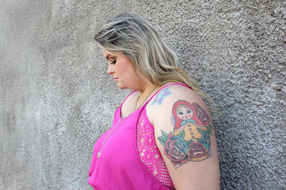 vestido plus size rosa 6 - grandes mulheres