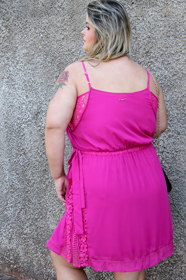 vestido plus size rosa 7 - grandes mulheres