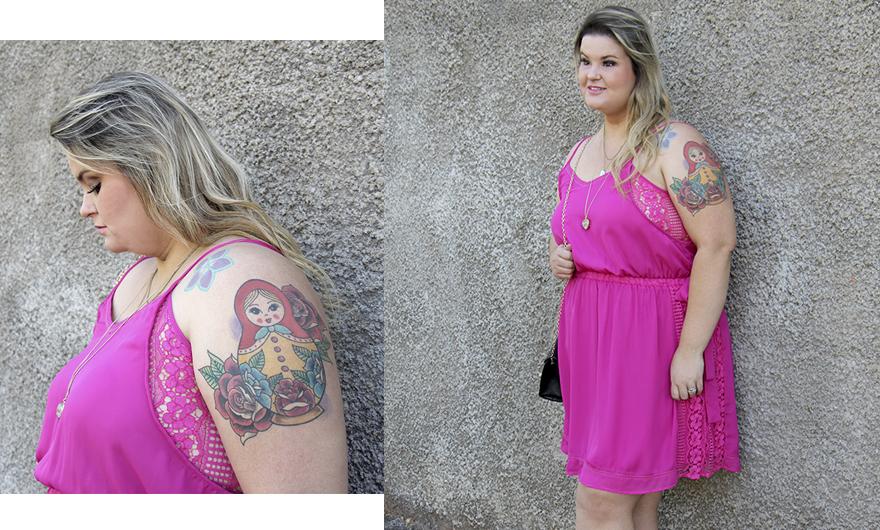 vestido plus size rosa capa - grandes mulheres