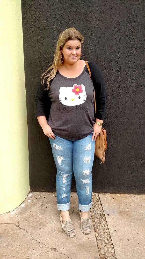 calça jeans destroyed plus size 9 - grandes mulheres