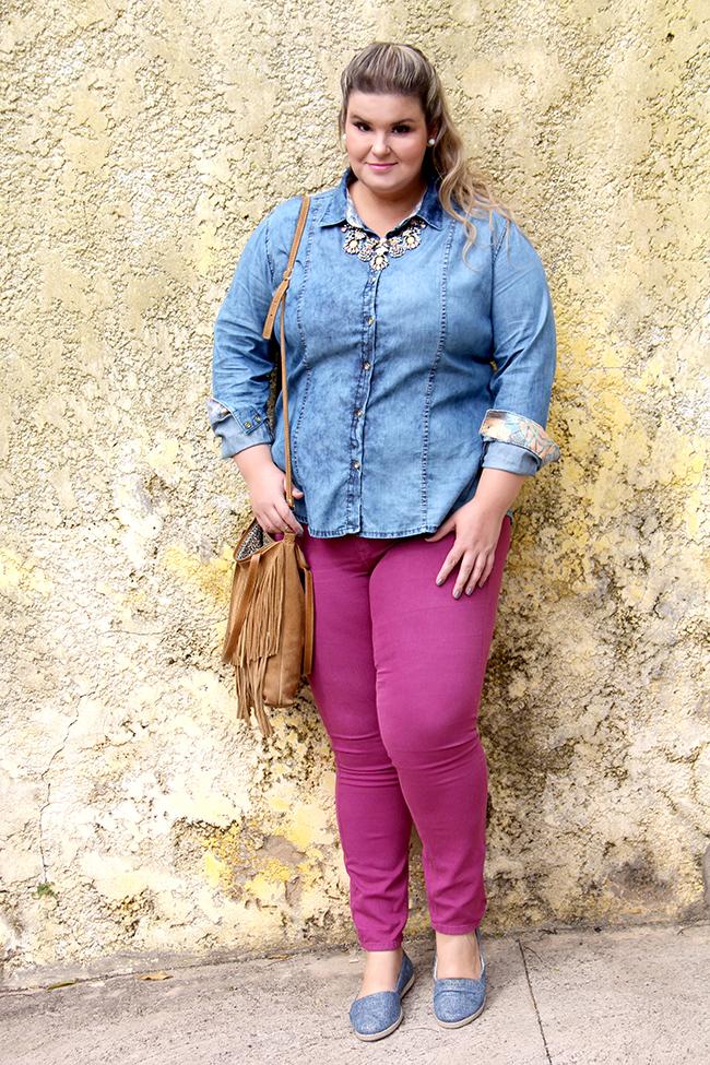 look lunender 5 - camisa jeans - grandes mulheres