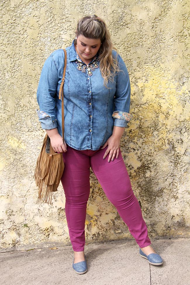 look lunender 7 - camisa jeans - grandes mulheres