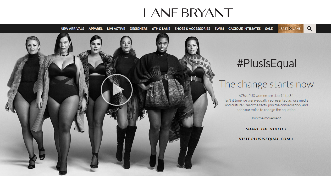 representatividade gorda 3 - lane bryant - grandes mulheres
