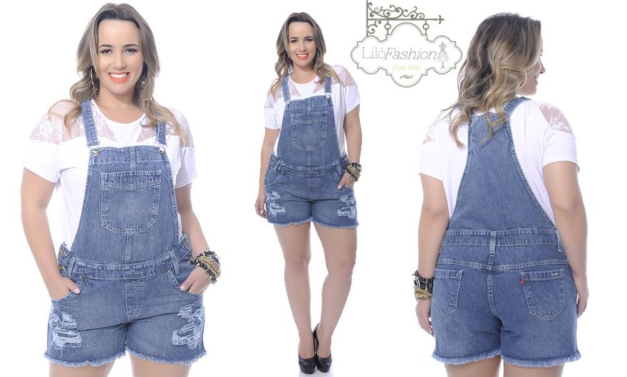 bbe93ae90 A loja está oferecendo às minhas leitoras uma jardineira jeans que é super  moderna e estilosa, mas atenção, ela é tamanho 52. Se você for participar  da ...