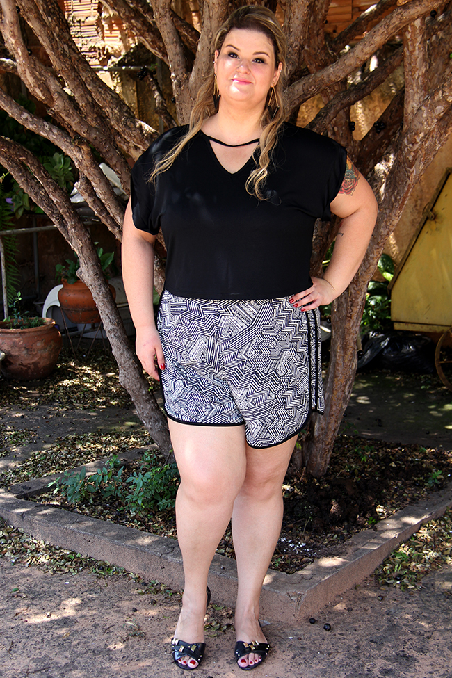 look plus size - cropped e shorts 10 - grandes mulheres