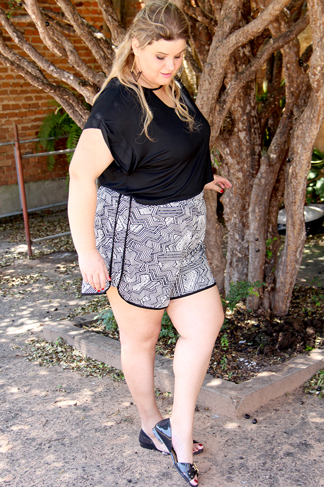 look plus size - cropped e shorts 5 - grandes mulheres
