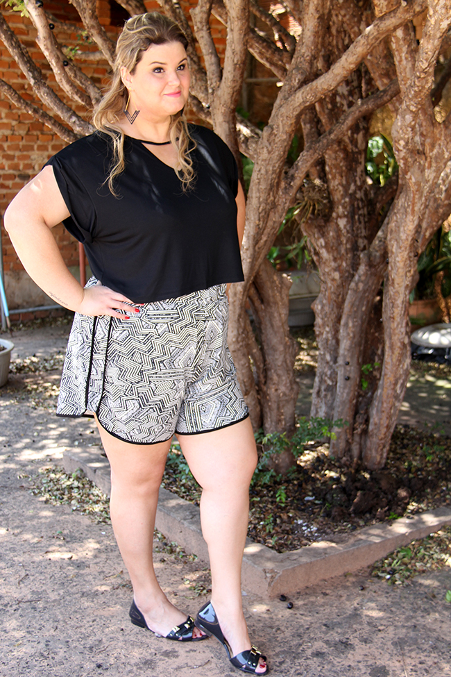 look plus size - cropped e shorts 6 - grandes mulheres