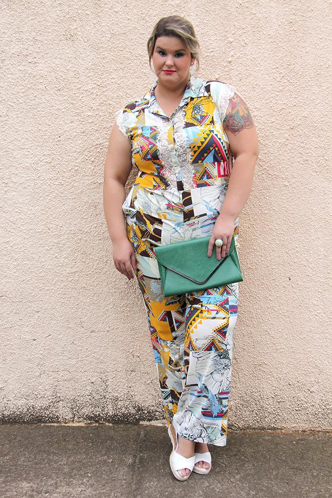 macacão plus size 14 - julia plus - grandes mulheres