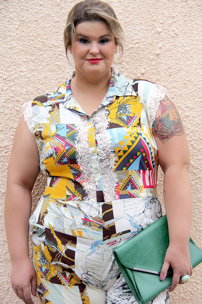 macacão plus size 15 - julia plus - grandes mulheres