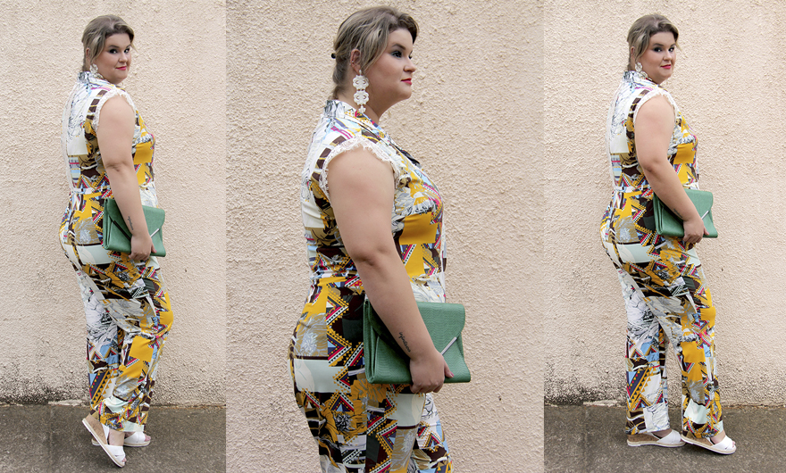 macacão plus size 17 - julia plus - grandes mulheres