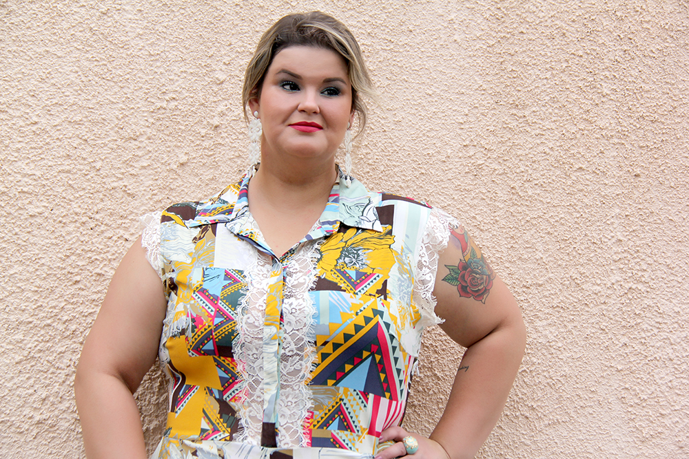 macacão plus size 4 - julia plus - grandes mulheres