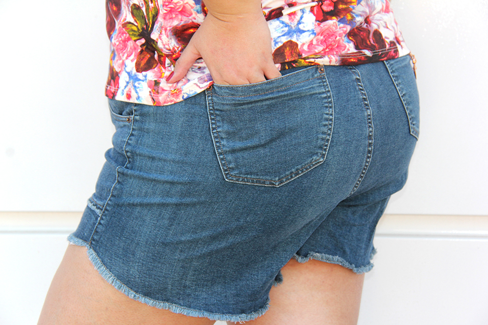shorts jeans plus size 1 - grandes mulheres