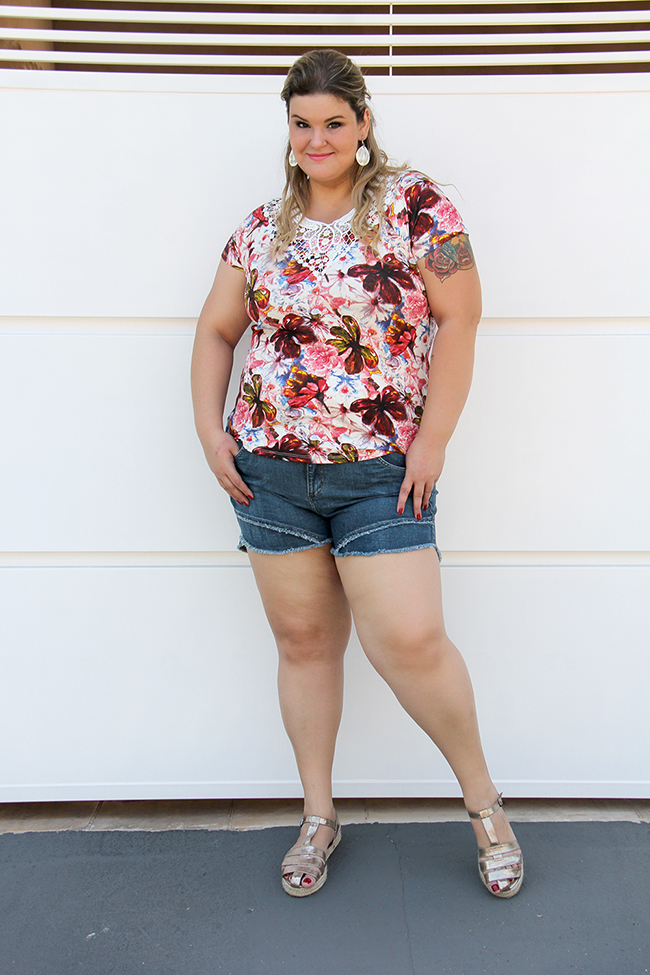 shorts jeans plus size 7 - grandes mulheres