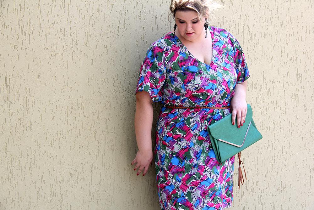 vestido colorido plus size 3 - julia plus