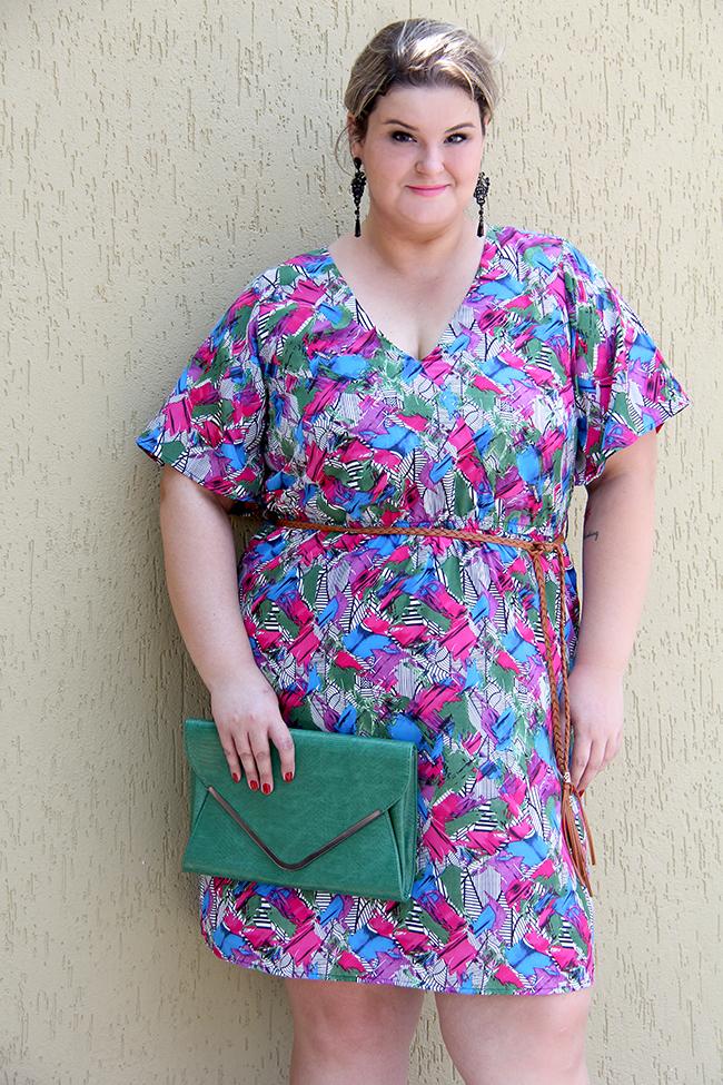 vestido colorido plus size 6 - julia plus