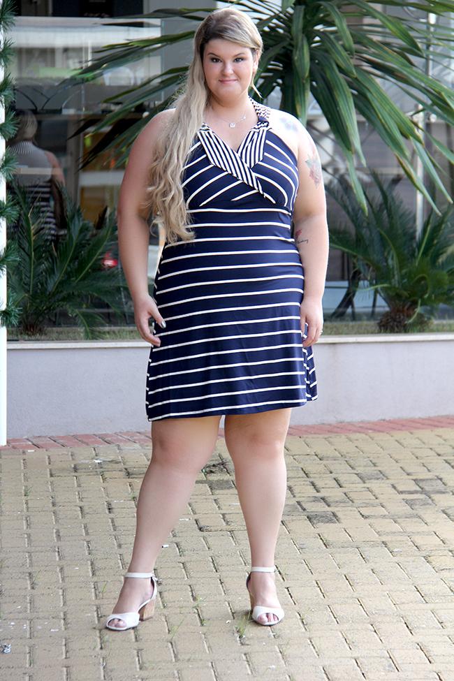 vestido listrado plus size 3 - lilo fashion - grandes mulheres