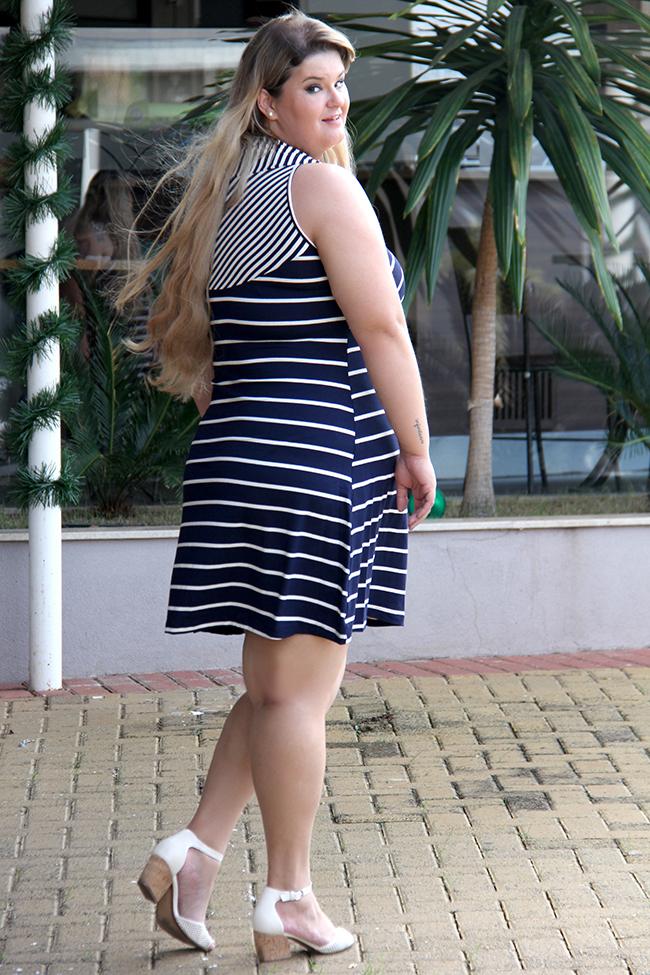 vestido listrado plus size 4 - lilo fashion - grandes mulheres