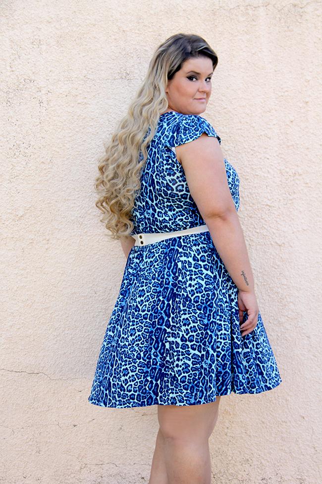 vestido oncinha 2 - moda plus size - grandes mulheres