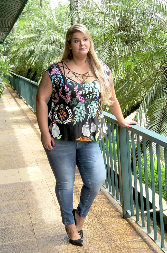 blusa estampada plus size 1 - grandes mulheres