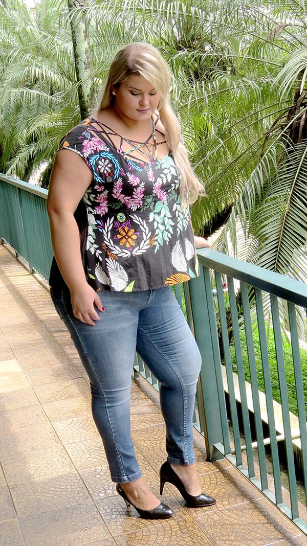 blusa estampada plus size 2 - grandes mulheres