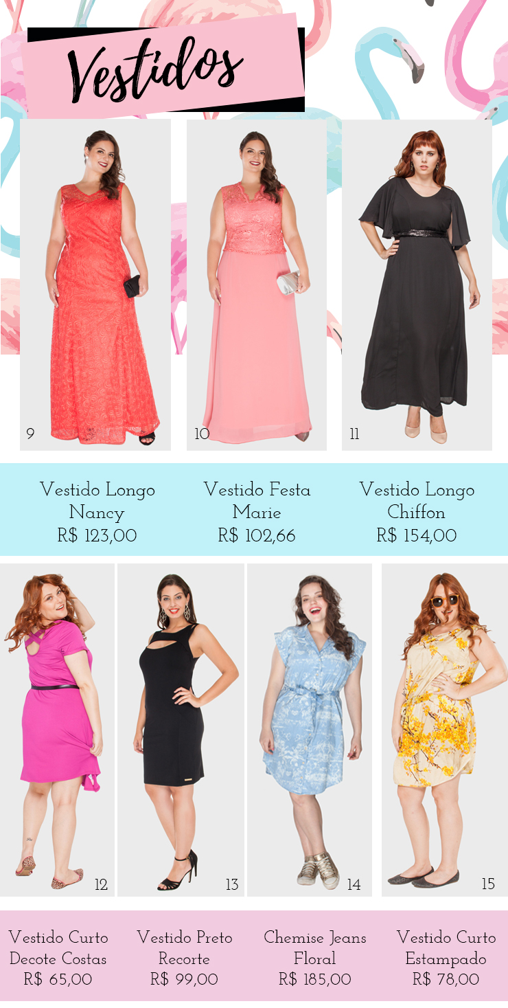 vestidos plus size - xepa flaminga