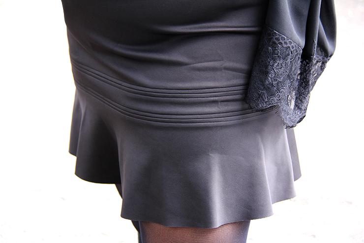 Look plus size - preto com suede 1 - grandes mulheres - paula bastos