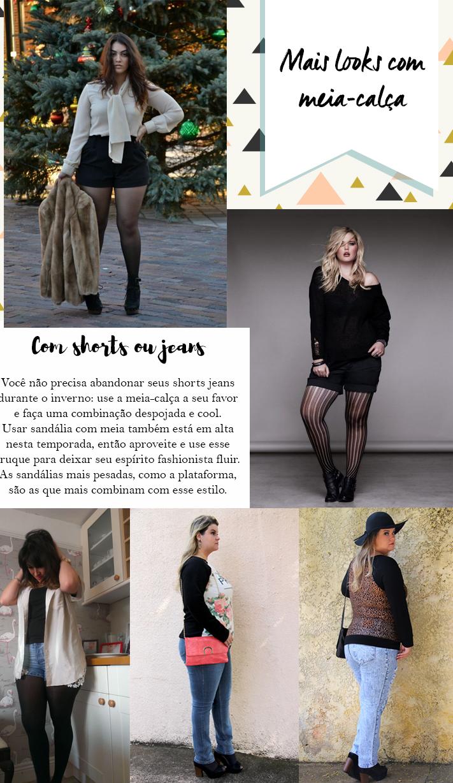 como combinar meia-calça - looks com meia-calça 2 - grandes mulheres
