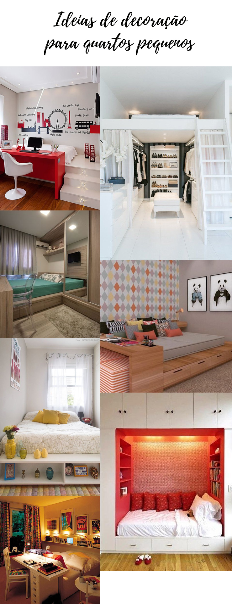 ideias de decoração para quartos pequenos - grandes mulheres