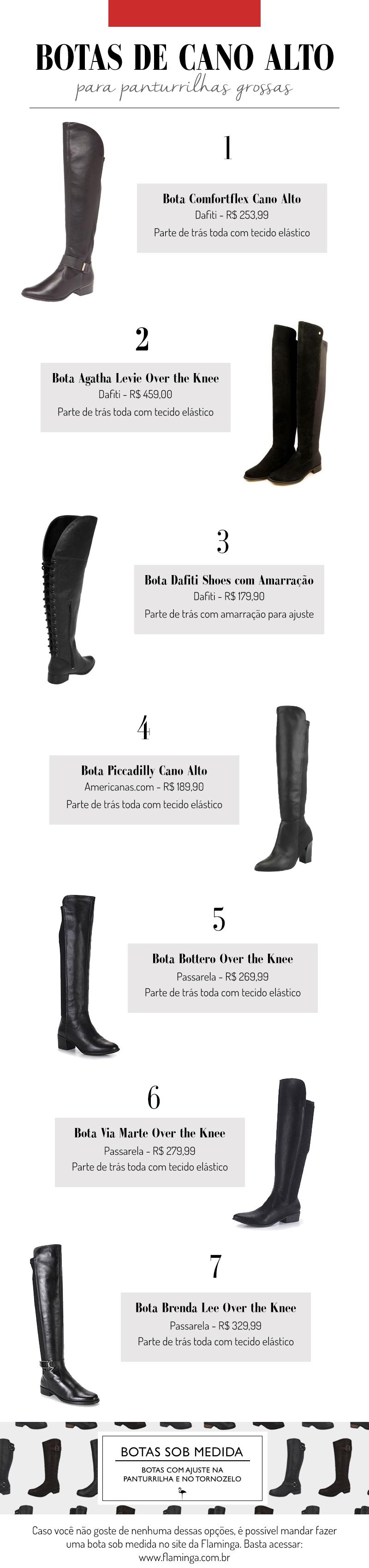 Botas de cano alto para pernas grossas - grandes mulheres