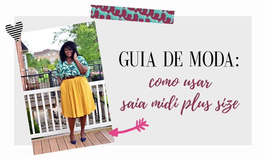 CAPA GUIA DE MODA PLUS SIZE - SAIA MIDI