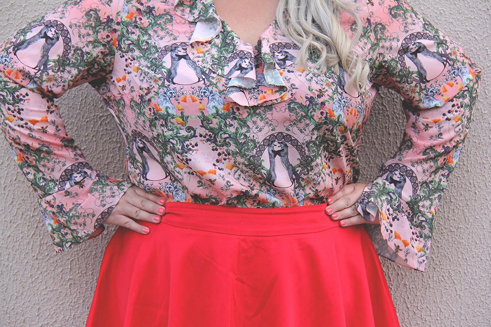 Moda plus size - look do dia plus size - blusa romântica estampa raposinhas - grandes mulheres 7