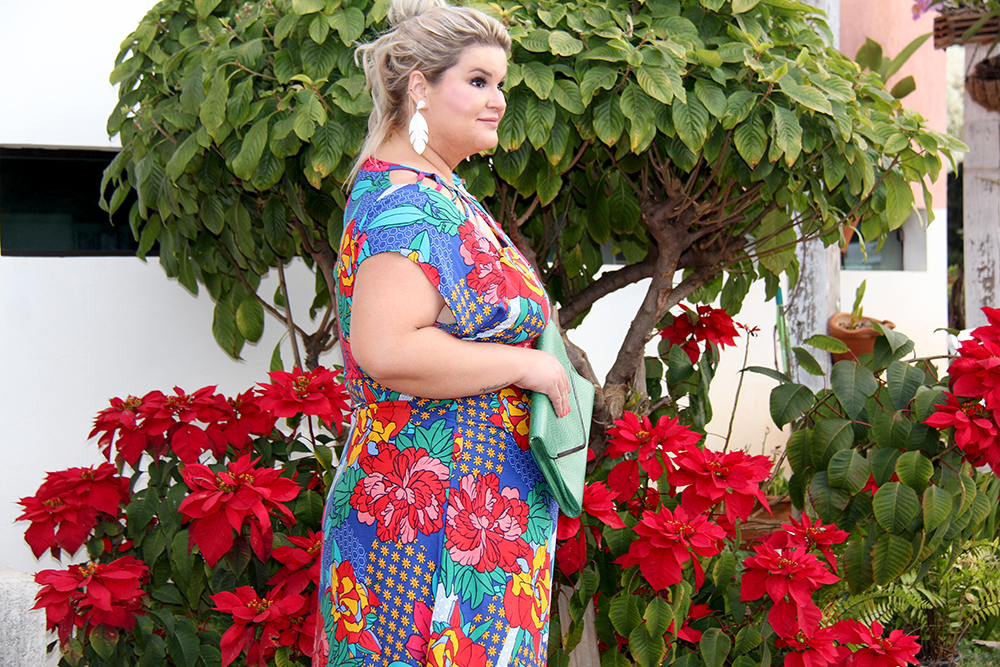 Vestido estampado plus size - Predilects - look plus size - moda plus size - grandes mulheres 11