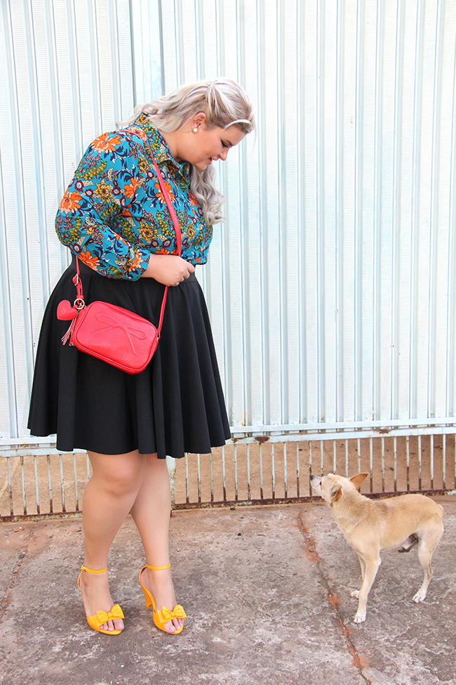 Look lady like plus size com Chica Bolacha e Julia Plus 1 - look do dia plus size - moda plus size - moda para gordinhas - grandes mulheres 1