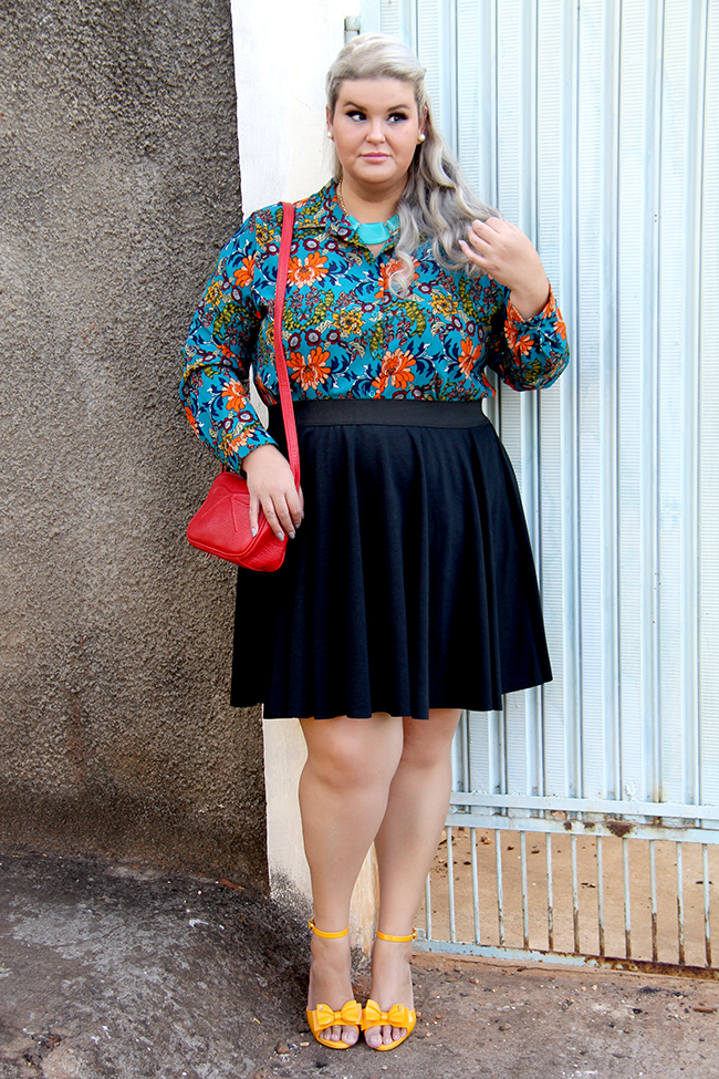 Look lady like plus size com Chica Bolacha e Julia Plus 3 - look do dia plus size - moda plus size - moda para gordinhas - grandes mulheres