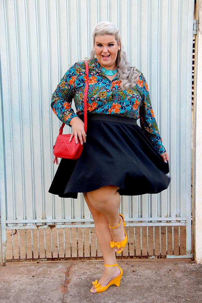Look lady like plus size com Chica Bolacha e Julia Plus 4 - look do dia plus size - moda plus size - moda para gordinhas - grandes mulheres