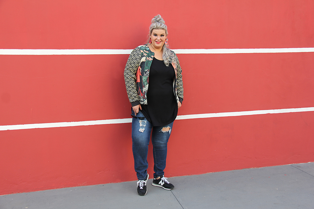 jaqueta oriental plus size Chica Bolacha 7 - look do dia plus size - moda plus size - street style plus size - grandes mulheres