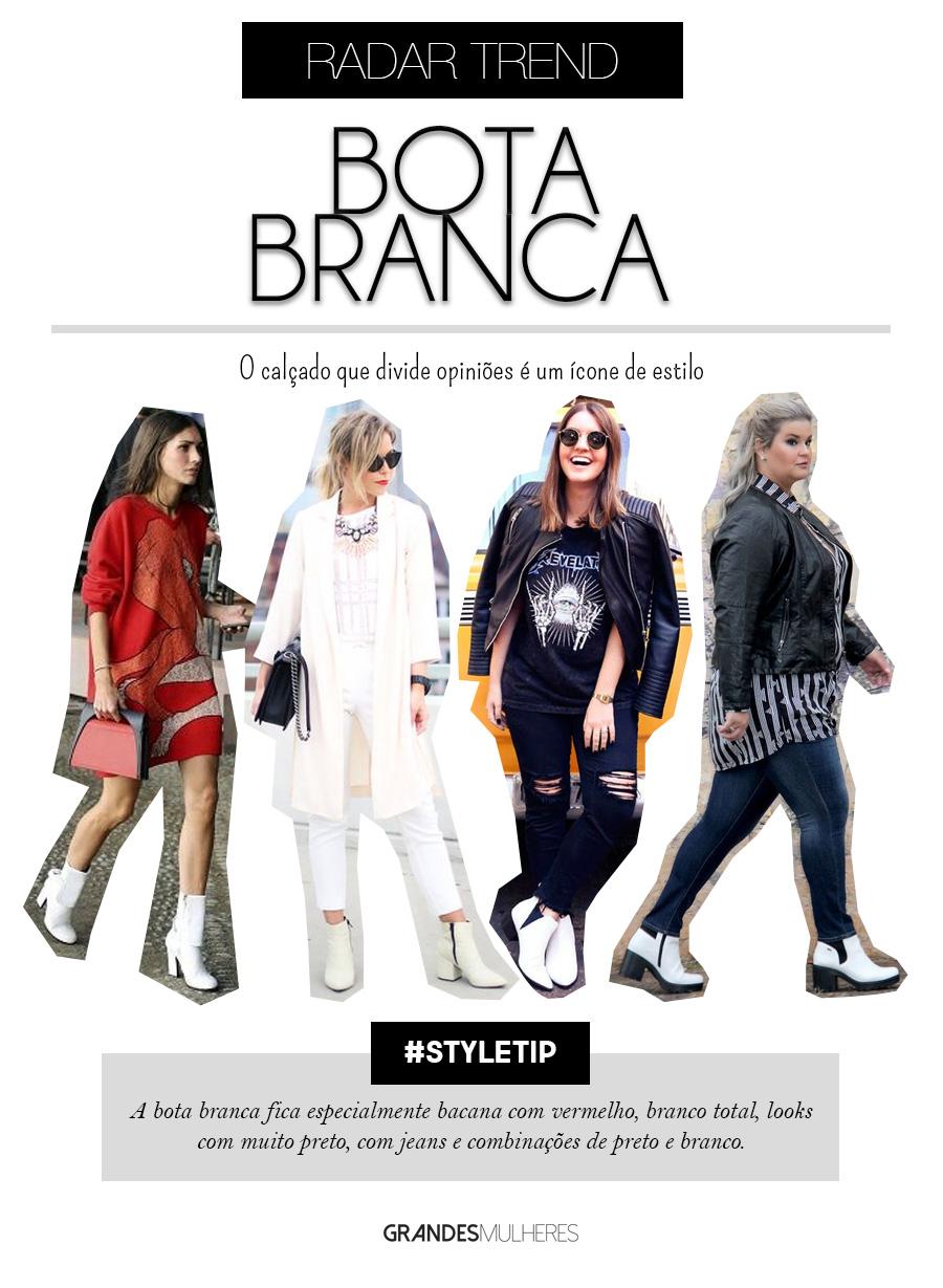 Bota branca: saiba como combinar o calçado do momento em seus looks do dia!
