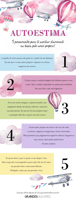 5 pensamentos para te ajudar a desenvolver autoestima