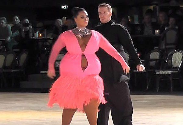 Dançarinos gordos ou magros usando fat suit?